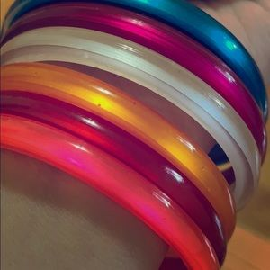 Jewelry - Colored plastic Bangles